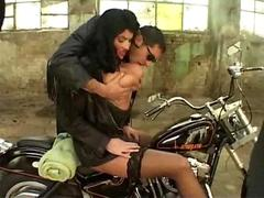 Laura Orsolya Fucking On A Motor Bike