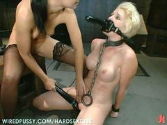 Two hot lesbians in the sexy bdsm scene