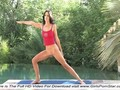 A super sexy brunette is naked outdoor aerobics clip