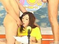 Japanese newscasters get their chance to shine on bukkake tv video