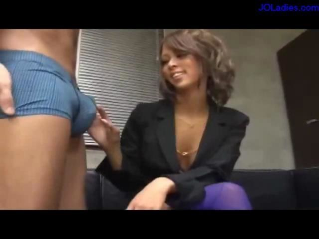 ugly lady on her knees giving blowjob