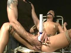 Hot slavegirl getting punished and fucked clip