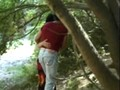 Gipsy slut analfucked in the woods