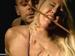 Blonde getting punished and fucked pretty hard