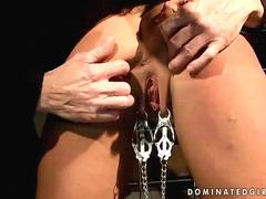 Busty beauty getting bondaged and fucked movie