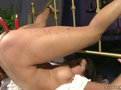 Sexy girl getting bondaged and anal fucked