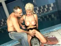 Granny getting fucked by sybian segment 2