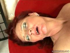 Old redhead getting fucked very hard