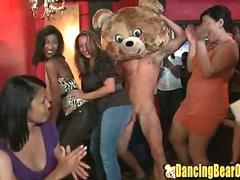Crazy Girls go Wild for the Strippers Cock