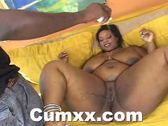 Busty Ebony Crystal Oiled In Her Fat Ass And Fucke