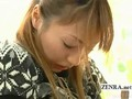 Subtitled Japan office lady bizarre foreplay interview