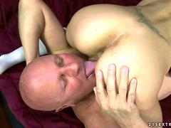 Teen has nasty sex with a very old kinky man