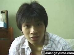 A cute teen Japanese guy on cam