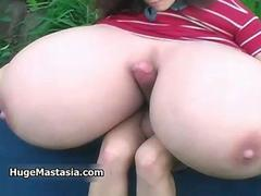 Busty babe goes crazy jerking