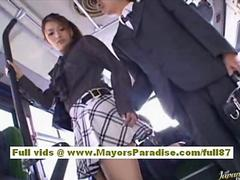Nao yoshizaki sexy asian teen on the bus feature 3