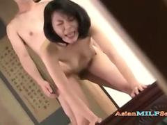 Slim Asian MILF enjoys hadcore doggystyle sex too much