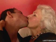 Dude fucking with a busty granny and fucks her raw