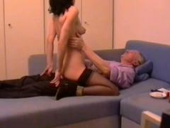 Horny Italian wife fucks with her horny old husband