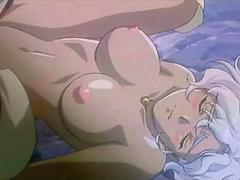 Busty hentai princess gets her tiny wet cunt smashed hard