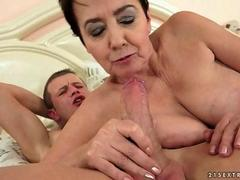 Handsome man fucks a fat naughty gilf with pleasure