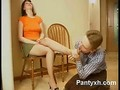 Nerdy Gal in Pantyhose gets her tasty feet licked