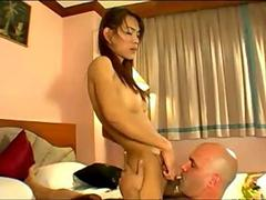 Asian Tranny Slut Gets Big Cock Fucked