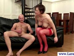 Glamorous british MILF gets her pussy drilled