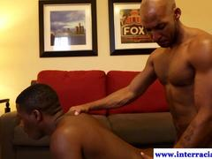 Ebony amateur takes a cock in high tight ass