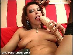 That is one long black dildo video