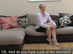 British fake agent fucks a blonde Bulgarian MILF
