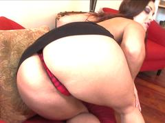 Anal with black cock makes this hot brunette reach orgasm fast