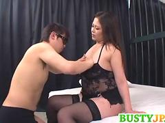 Yuuki busty sucks penis in 69