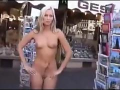 Blonde Walking Around Naked In Public