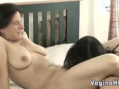 Young And Old Lesbian Couple Having Fun