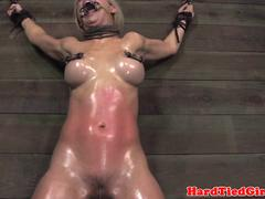 Spread eagle Cherie DeVille caned