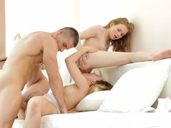 Cum swapping threesome