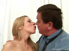 Sexy young girl fucking old fat man