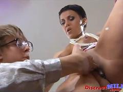Hot Russian MILF teaches her assistant about sex