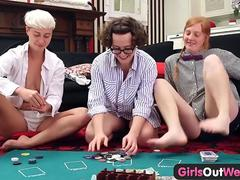 Girls Out West - Three hairy lesbians lick and rim each other