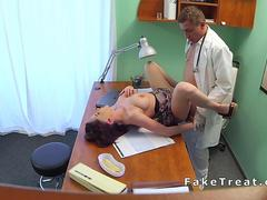 Doctor bangs natural big boobs brunette