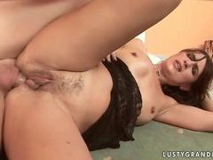 Sexy grandma gets her tight asshole rammed