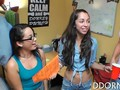 College girls play games that get them fucked at a party