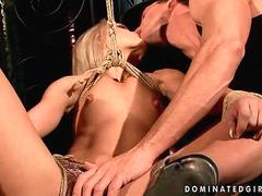 cute blonde getting bondaged and fucked movie