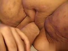 FAt disgusting slut gets fisted in a close up