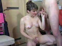 Surprise Russian MILF and lick her
