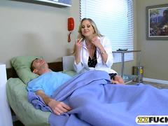 Naughty busty blonde doctor Julia Ann fucked her patient