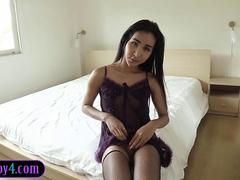 Perfect ass ladyboy from Thailand banged in the butt