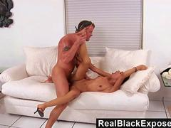 RealBlackExposed  Mimi Allen Takes on a Marines Cock