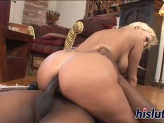 She takes a BBC up her ass