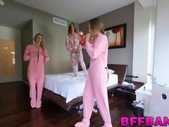 Hot ass teen gets fucked during a pajama party in POV